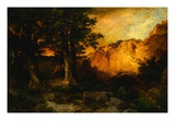 Western Sunset Giclee Print by Thomas Moran
