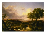 View of Boston Gicléedruk van Thomas Cole