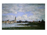View of Antwerp Taken From the Border of Flanders Giclee Print by Eugène Boudin