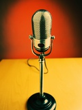 Vintage Microphone Photographic Print by Lawrence Manning
