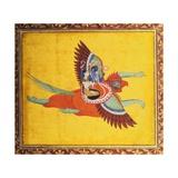 Vishnu et Lakshmi montant Garuda Impression giclée
