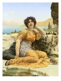 With Violets Wreathed and Robe of Saffron Hue Giclee Print by John William Godward
