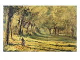 Woman in the Forest Giclee Print by Claude Monet