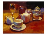 Wine and Tea, London Giclée-Druck von Pam Ingalls