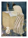 Femme se lavant les mains Reproduction giclée Premium par Mary Cassatt