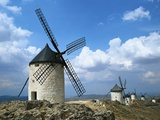 Windmills near Toledo Photographic Print by Mark Karrass