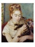 Femme au chat Reproduction procédé giclée par Pierre-Auguste Renoir