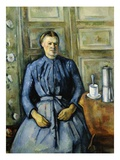 Woman With a Coffee Pot Giclee Print by Paul Cézanne