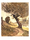 Willow Near the River Giclee Print by Henri Joseph Harpignies