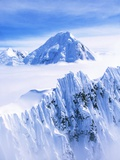 Wrangell Mountains and Clouds Photographic Print by Joseph Sohm