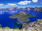 Wizard Island in Crater Lake Photographic Print by Robert Glusic