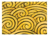 Yellow Waves Giclee Print by Gerrit Greve