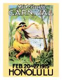 Karneval des Mittleren Pazifiks, 1915 Giclée-Druck
