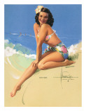 Sunny Skies Gicleetryck av Rolf Armstrong