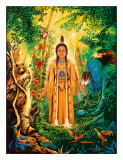 Native American Divine Grandmother Giclee Print by David Rico
