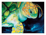 Timeless Wisdom, Hawaiian Sea Turtle Giclee Print by Ari Vanderschoot