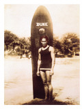 Young Duke Kahanamoku, Honolulu, Hawaii Giclee Print