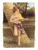 Ukulele Girl Lámina giclée por Himani