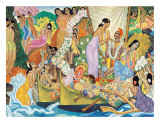 Aloha Universal Word Giclée-tryk af Eugene Savage