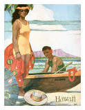 The Story Of Hawaii, Tourist Bureau Booklet 1929 Edition Giclee Print by John Kelly