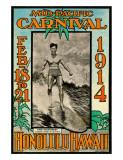 Mid Pacific Carnival 1914, Honolulu, Hawaii, Featuring Duke Kahanamoku Giclée-tryk