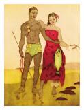 Fisherman, Royal Hawaiian Hotel Menu Cover c.1950s Giclee Print by John Kelly