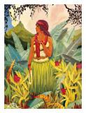 Hawaii Nei Lámina giclée por Don Blanding