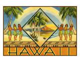 Hawaii Brochure, 1943 Giclée-tryk