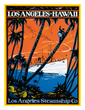 Los Angeles-Hawaii, Los Angeles Steamship Company, c.1920s Giclee Print