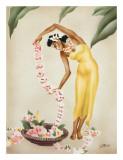The Hawaiian Leimaker, c.1930s Giclée-tryk af  Gill
