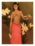 Banana Girl, Royal Hawaiian Hotel Menu, c.1950 Giclee Print by John Kelly