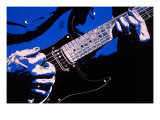 Close-up of Electric Guitar Player Giclee Print by Carol & Mike Werner
