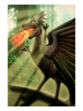 Fire-Breathing Dragon Giclee Print by Carol & Mike Werner