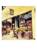 Outside Bookstore Giclee Print by Jerry Koontz