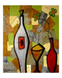 The Metallic Wine Giclee Print by Gino Savarino