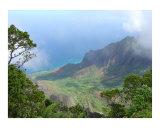 Kalalau Lookout Kauai Hawaii Kokee State Park Photographic Print by Miska Slock