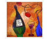 Vino & Roses Giclee Print by Gino Savarino