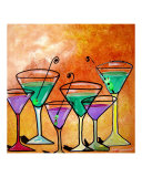 The Six Martinis Giclee Print by Gino Savarino