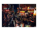 UpTown Saturday Night Giclee Print by Ansel E Butler