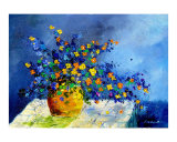 Bunch of Flowers Giclee Print by Pol Ledent
