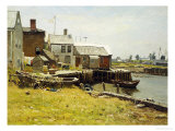 Fishing Pier Giclee Print by John Joseph Enneking