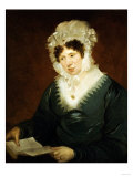Portrait of a Lady, American School, 19th Century Giclee Print