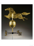 A Gilded Sheet Iron Weathervane in the Form of a Galloping Horse, 19th Century Prints by  A. L. Jewell and Co.
