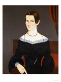 Portrait of a Young Woman Ca, 1845 Giclee Print by George Hartwell