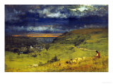 Sunset at et retat Prints by George Inness