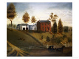 Farmstead Scene, American School, Late 19th Century Giclee Print
