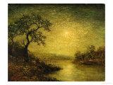Moonlit Landscape Giclee Print by Franz Arthur Bischoff