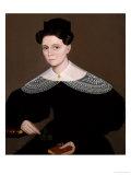 Mrs. Cox, circa 1836 Giclée-tryk af Ammi Phillips