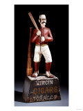 A Painted and Carved Baseball Player Tobacco Figure, circa 1875 Giclee Print
