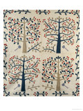 An Appliqued Cotton Quilted Coverlet, American, Mid 19th Century Premium Giclee Print